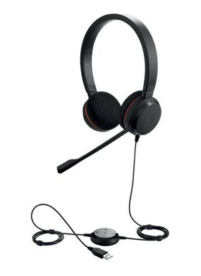 Jabra Hauptbild 4999-823-109 Evolve 20 Duo angled with cord