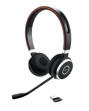Jabra Produktbilder 6599-823-399 Evolve 65 duo angled with dongle trans 1