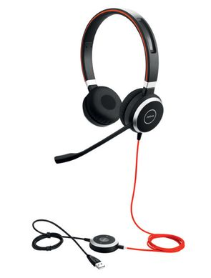 Jabra Hauptbild 6399-823-109 Evolve 40 Duo angled with cord